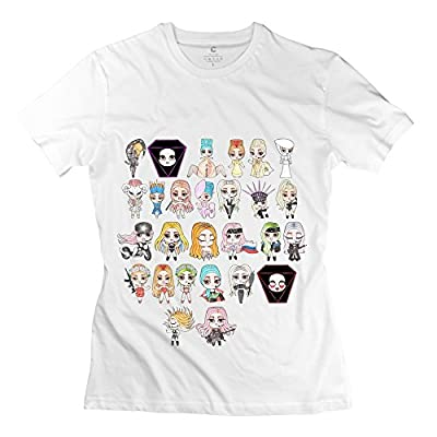 MINGRUI Women's Cartoon Lady Gaga T-shirt