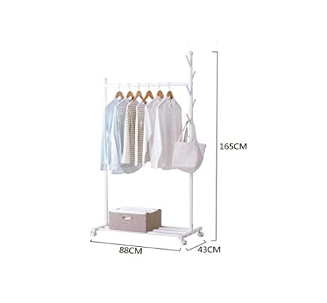 LXJYMX Perchero Vertical Ropa Pesada Ropa Rack Ropa Doble ...