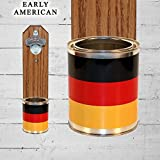 German Wall Mounted Bottle Opener with Germany Flag Tin Can Cap Catche Review