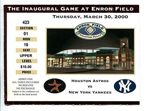 2000 Houston Astros v New York Yankees Ticket 3/30 Inaugural Game Enron Field ()