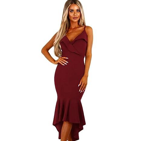 super popular 91c04 0f8b4 JIALELE Abito Rosso Donna,Abito Paillettes Donna Abito ...