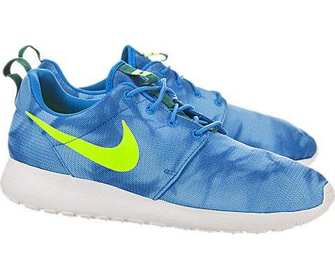 Nike Roshe Run Print Photo Blue Electric Green