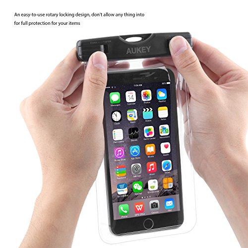 AUKEY Custodia Cellulare Impermeabile Universale 6 Pollici Waterproof Cover Case Impermeabile per iPhone 7/ 7 Plus/ SE / 6s / 6s Plus / 6 / 6 Plus / ...