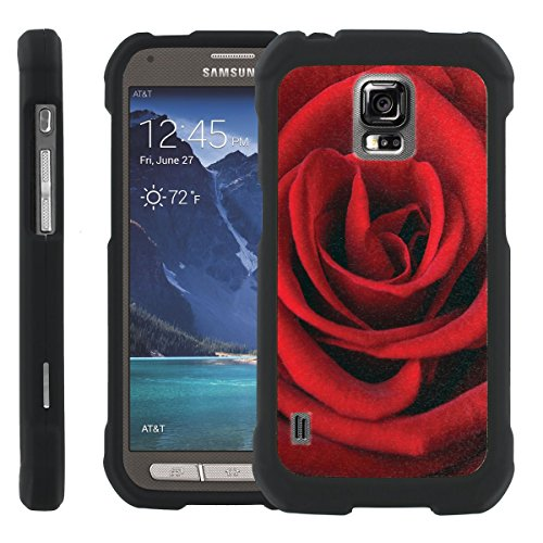 [ManiaGear] Design Graphic Image Shell Cover Hard Case (Red Rose) for Samsung Galaxy [S5 Active] SM-G870A