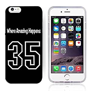 GXFC Case Unique Design Basketball Sportsman Uniform Where Amazing Happens 35 Pattern HD Durable Hard Plastic Case Cover for iphone 6(4.7 Inch)