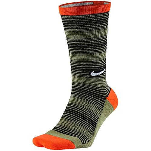 Nike Elite Graphic Crew 1 Golf Socks 2017 Max Orange/Palm Green/Black - Black Socks Nike Orange