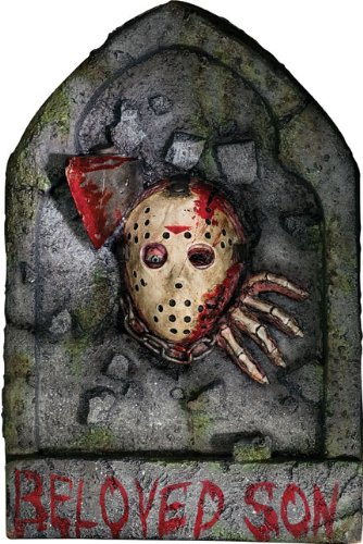 [Friday The 13th Jason Voorhees Tombstone Decoration] (Jason Vorhees Masks)
