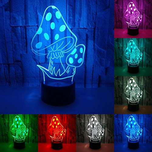 JAYLONG 3D Visual Night Lamp, Creative LED 3W Night Lights For Kids,...