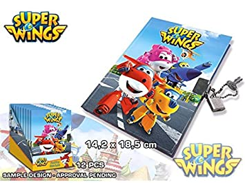Disney - Super Wings agenda candado, wi17017, 14 x 18.5 cm ...