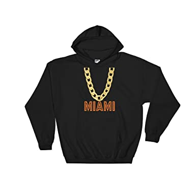 Delsee Brands Products Miami Florida Hooded Sweatshirt Football Fan Novelty Apparel Adults Teens Kids