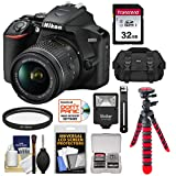 Nikon D3500 Digital SLR Camera & 18-55mm VR DX AF-P Lens with 32GB Card + Case + Tripod + Flash + Kit
