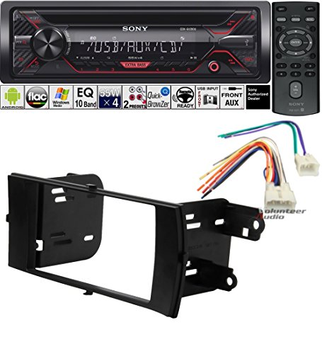 Volunteer Audio Sony CDX-G1200U Double Din Radio Install Kit with CD Player, USB/AUX Fits 2012-2015 Non Amplified Toyota Prius C