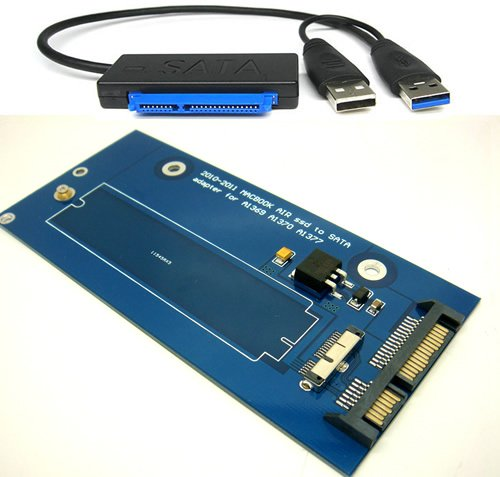 18 Pin to SATA Adapter Card with USB 3.0 SATA Cable for 2010-2011 MacBook AIR A1369 A1370 A1377 SSD ()