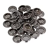 BQLZR 29mm Round Stainless Steel Cant Air Ventilation Shoes Cupboard Cabinet Louver Cover Pack of 30