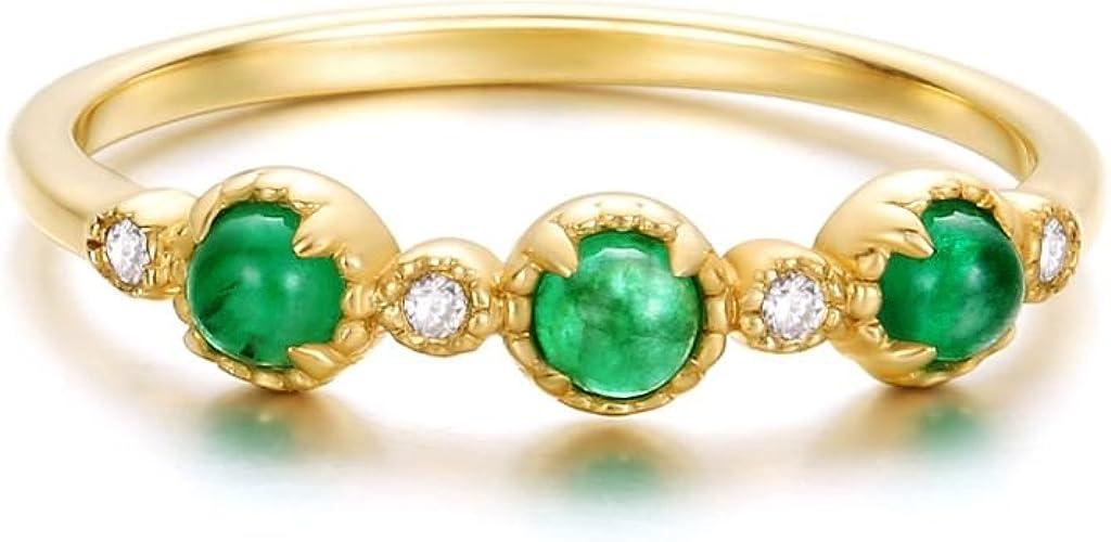 Solid 14k18k Gold Natural Tsavorite Gemstone Real Diamond Dainty Delicate Ring 925 Sterling Silver Handmade Minimalist Fine Jewelry