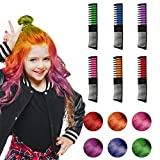 Hair Chalk, 6 Color Hair Chalk Comb Set Non-toxic Washable Temporary Hair Dye for Kids Women Best...