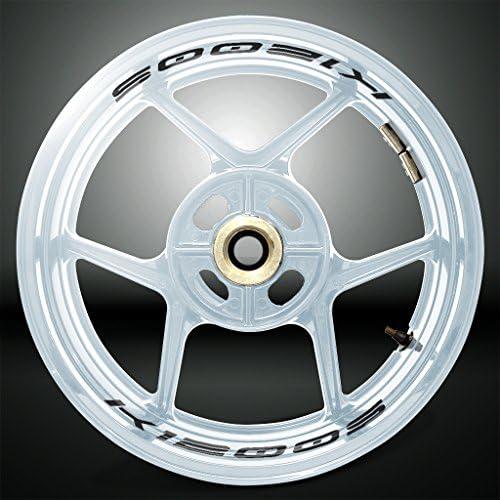 Stickman Vinyls Reflektierende Schwarz Motorrad Inner Rim Tape Decal Aufkleber Kompatibel Mit Bmw K1200s Auto