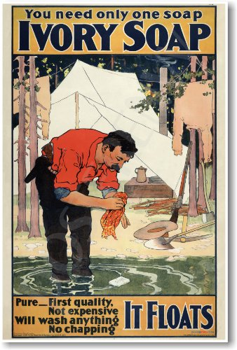 Ivory Soap - It Floats - NEW Vintage Poster