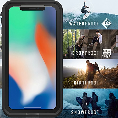 Lifeproof FRĒ SERIES Waterproof Case for iPhone X (ONLY) - Retail Packaging - NIGHT LITE (BLACK/LIME) by LifeProof (Image #6)