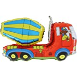 36 Inch Concrete Lorry / Cement Mixer Foil Shaped Balloon (CS143) [Toy]