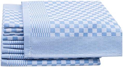 ZOLLNER 10 Trapos de Cocina, algodón, a Cuadros Azules, 46x70 cm ...