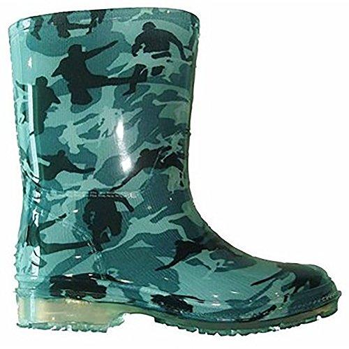 Cotswold Kinder Jungen Gummi Stiefel PVC Camouflage