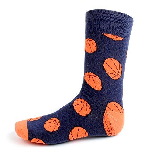 Men's Basketball Woven Crew Novelty Socks