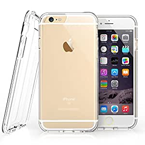 iPhone 6S Plus Case, Clear By Caseflex® [Reinforced Edges] TPU Gel [with Precision Port Cut-Outs & Button Moulds] Fits iPhone 6s Plus / iPhone 6 Plus