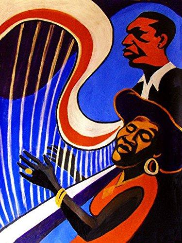 Bass Blues Harmonicas (ALICE COLTRANE PRINT POSTER man cave guitar cd lp record album vinyl Piano organ keyboard harp john trio)