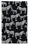 Office Product Zebra Cotton Check Presenter, Check Book Holder for Restaurant, Checkbook Cover, Waitstaff Organizer, Server Book for Waiters with Money Pocket / With Plastic Cover