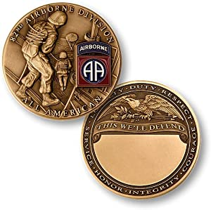 US Army 82nd Airborne Division Challenge Coin…
