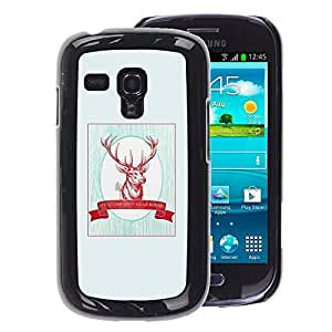 A-type Arte & diseño plástico duro Fundas Cover Cubre Hard Case Cover para Samsung Galaxy S3 MINI 8190 (NOT S3) (Quote Minimalist Christmas Hunting)