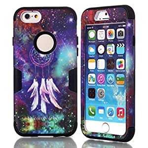 iPhone 6 Plus Cases,iPhone 6 Plus Case(5.5),Kaseberry Hybrid Impact Shockproof Cover hard Shell and soft Silicone For iPhone 6 Plus Black