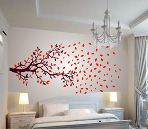 Decals Design 'Lovely Autumn Tree' Wall Sticker (PVC Vinyl, 60 cm x 90 cm)
