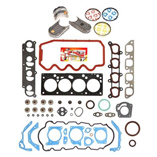 Domestic Gaskets Engine Rering Kit FSBRR8-20901EVE\0\0\0 00-04 Ford Focus 2.0 SOHC VIN P Full Gasket Set, Standard Size Main Rod Bearings, Standard Size Piston Rings