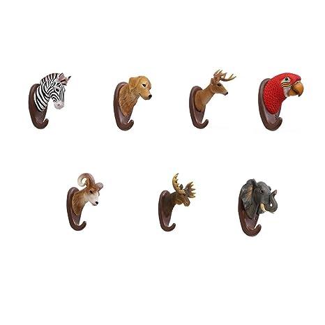 MYJ-Percheros 7 Paquetes de American Animal Resin Montaje en ...