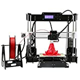 COOCHEER 3D Desktop Printer, Mini 3D Printing Adjustable Size 8.6 x 10.5 x 9.0in, DIY Self-Assembly High Accuracy Modularized Laser Machine With PLA Filament, Black printer