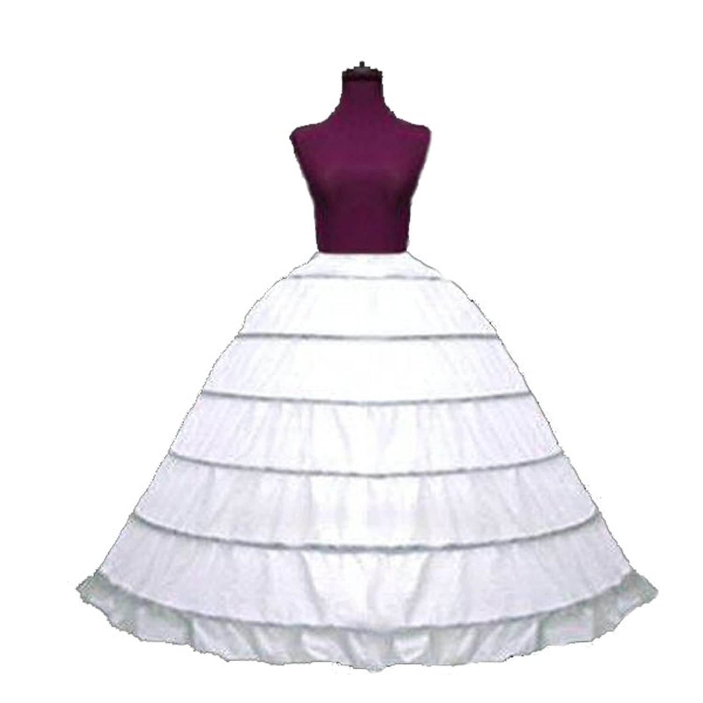 Amazon.com: SACAS Adjustable 6 Bone Hoop Skirt Mega full Renaissance ...