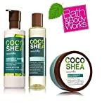 Bath & Body Works COCO SHEA CUCUMBER DELUXE GIFT SET Lightweight Body Oil – Oloe Gel Lotion and Seriously Soft Body Lotion. Full Size
