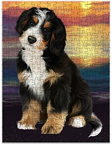 Bernedoodle Dog Puzzle with Photo Tin D459 (252 pc.)