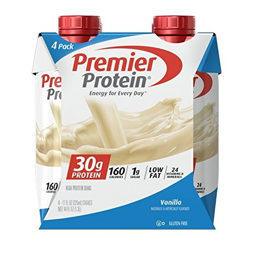 Premier Protein 30g Protein Shakes, Vanilla, 11 Fluid Ounces, 48 Count by Premier Protein