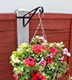 Hanging Basket Brackets for Concrete Posts x 4 supports Easy Fill baskets