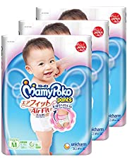 MamyPoko Air Fit Pants, M, 58 Count, (Pack of 3)