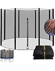 Trampoline 8Ft 10Ft 12Ft 13Ft 14Ft 16Ft Replacement Safety Net for 6/8 Straight Round Frame Trampoline Safety Enclosure Net