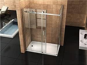 Mampara de ducha 70 x 8 mm, 100, con puerta deslizante sin ...
