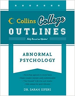Book Abnormal Psychology (Collins College Outlines)