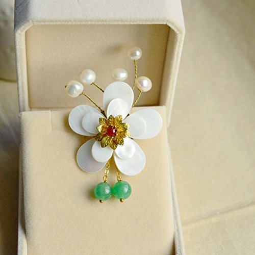 Custom handmade original design high-grade natural mother pearl brooch brooch scarf buckle cheongsam buckle child Bei Chinese clothing