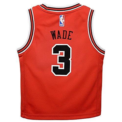 Outerstuff Dwyane Wade Chicago Bulls NBA Red Away Road Replica Jersey Toddler Size (Toddler Nba Jerseys)