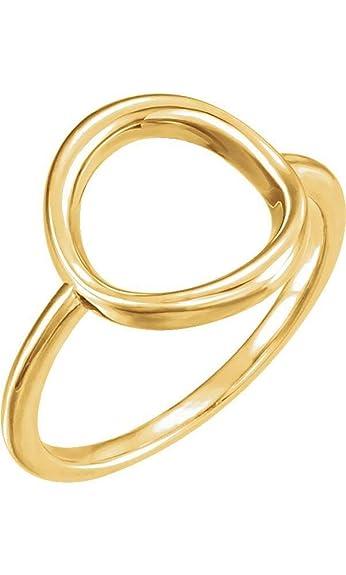 14k Yellow Gold Circle Ring Size 7 Amazon Jewellery