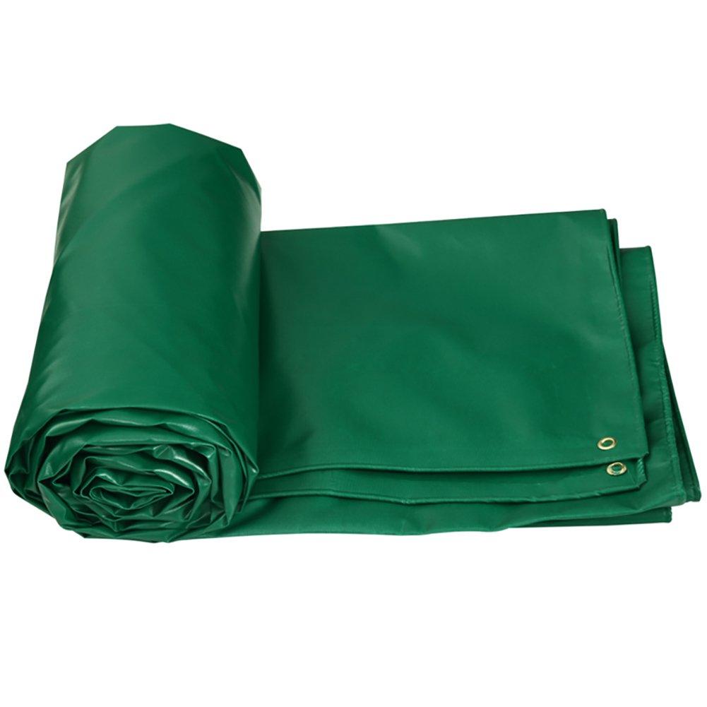 GUOWEI-pengbu ターポリン キャンバス シェード 日焼け止め 防水 老化防止 腐食保護 ポリエステル糸 屋外 5色 (色 : Green, サイズ さいず : 2.85x2.85m) B07FZ537Q6 2.85x2.85m|Green Green 2.85x2.85m